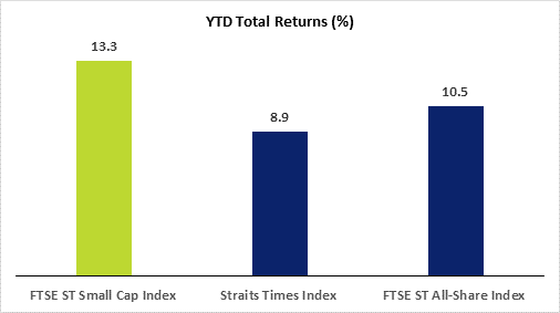 SGX Small Cap Index 2019 YTD total returns